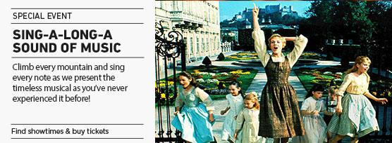 Banner: SING-A-LONG-A SOUND OF MUSIC