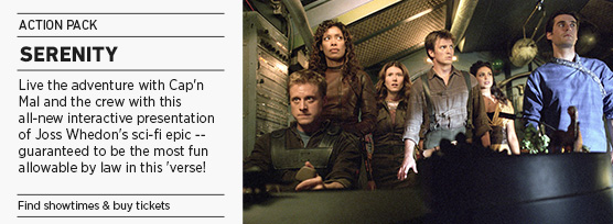 Banner: Action Pack SERENITY Quote-along - 2014 upload