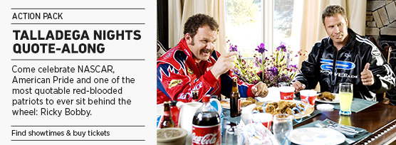 Banner: TALLADEGA NIGHTS Quote-Along - 2015 upload