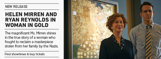 Banner: WOMAN IN GOLD