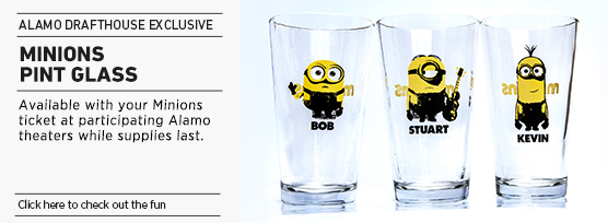 Banner: MINIONS Pint Glass - links to 2D