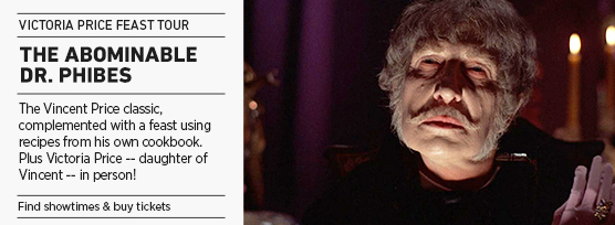 Banner: Victoria Price Feast ABOMINABLE DR. PHIBES