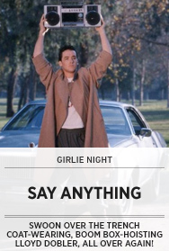 Poster: Say Anything Girlie Night