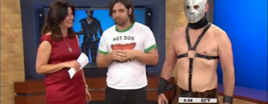 Alamo's Zack Carlson And Lord Humungus Visit KEYE To Discuss The Road Warrior Rolling Roadshow!