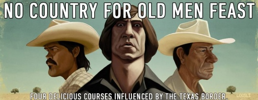 Join us for a NO COUNTRY FOR OLD MEN feast featuring beer pairings from Karbach brewery