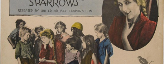 See Mary Pickford in SPARROWS (1926) on 03/03, with DJed score on turn-of-the-century phonographs!