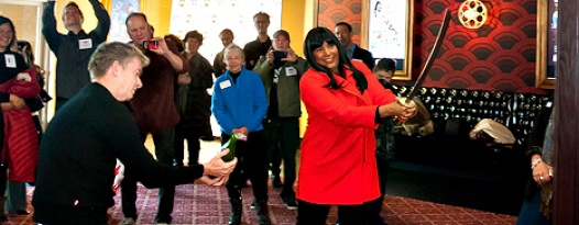 IT'S OFFICIAL! ALAMO LITTLETON IS OPEN,THANKS TO PAM GRIER AND MAYOR DEBBIE BRINKMAN