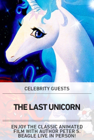 Poster: THE LAST UNICORN with Peter S. Beagle