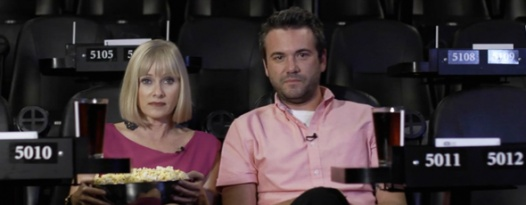 YOU'RE NEXT's Barbara Crampton And A.J. Bowen's Alamo Drafthouse Don't Talk PSA
