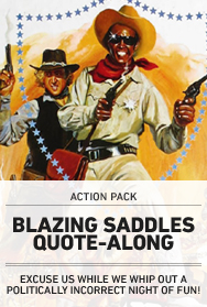 Poster: BLAZING SADDLES Quote-Along