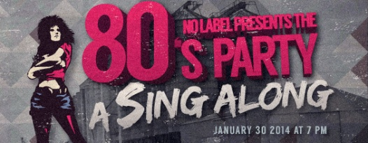 Join us at No Label Brewing Co. for a Totally '80s Sing-Along