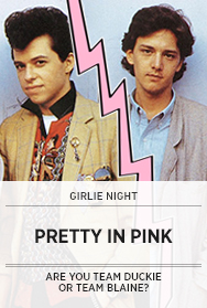 Poster: Girlie Night: PRETTY IN PINK