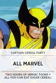 Poster: Marvel Cartoon Cereal Party