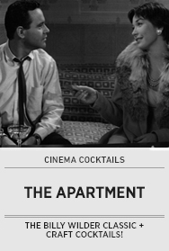 Poster: Cinema Cocktails THE APARTMENT - 2014 upload