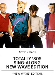Poster: Totally 80s Sing-Along - New Wave - 2015 upload