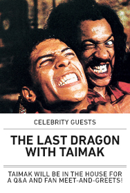 Poster: The Last Dragon with Taimak