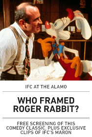 Poster: IFC Presents WHO FRAMED ROGER RABBIT? with Maron Clips