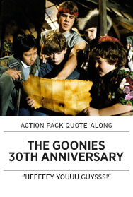 Poster: Action Pack THE GOONIES Movie Party - 2015 upload
