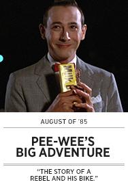 Poster: August of 85 - PEE-WEE'S BIG ADVENTURE - 2015 upload