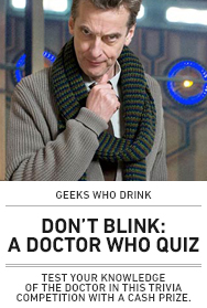 Web Poster: Doctor Who Geeks who Drink
