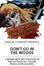 Poster: Vinegar Syndrome DON'T GO IN THE WOODS - 2015 upload