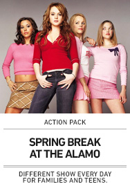 Poster: Spring Break with The Action Pack