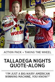 Poster: TALLADEGA NIGHTS Quote-Along - 2015 upload