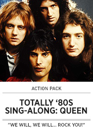 Poster: Totally 80s Sing-along - Queen - 2015 upload