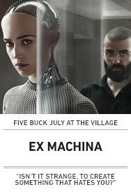 Poster: EX MACHINA ($5 Austin 2015)