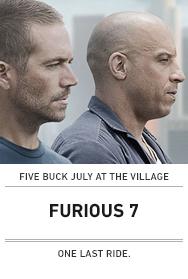 Poster: FURIOUS 7 ($5 2015 Austin)