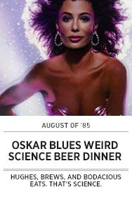 Poster: Oskar Blues WEIRD SCIENCE Beer Dinner - 2015 upload