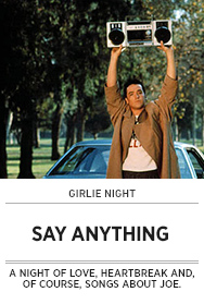 Poster: Girlie Night SAY ANYTHING - 2015 upload