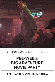 Poster: PEE-WEE'S BIG ADVENTURE QAL Movie Party - 2015 upload